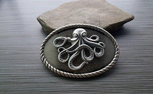 Handmade-Antique-Silver-Octopus-Belt-Buckle-0