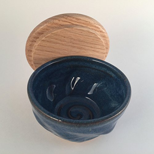 Handmade-Blue-Pottery-Shaving-Bowl-with-Lid-0