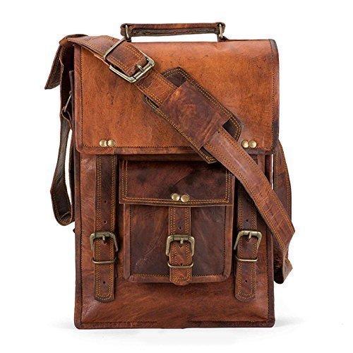 Handmade-Leather-Crossbody-satchel-shoulder-Messenger-briefcase-ipad-bag-13-inch-mens-womens-0