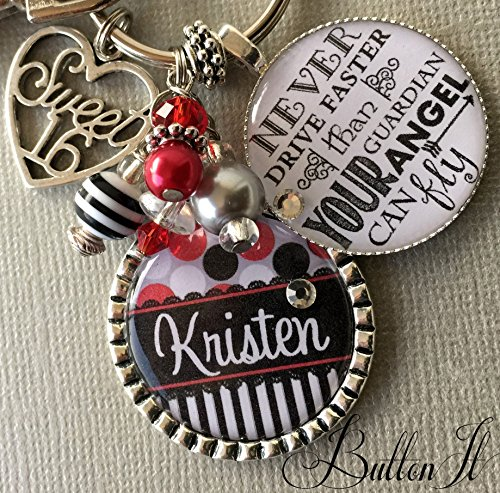 Happy Birthday Sweet 16 Key Chain Personalized Gift Daughter