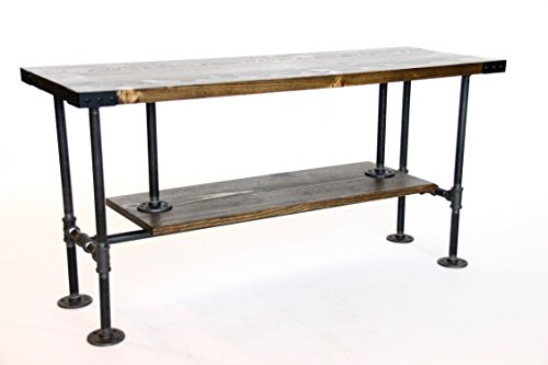 Industrial-Style-TV-Console-Rustic-Media-Stand-with-Storage-Ships-from-Detroit-MI-0
