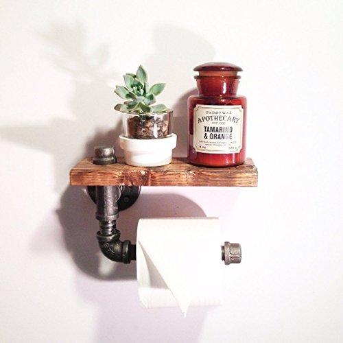 Industrial-steampunk-wood-bathroom-shelf-toilet-paper-holder-0