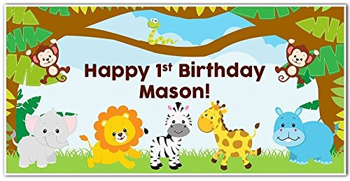 Jungle-Zoo-Baby-Animals-Birthday-Banner-Party-Decoration-Backdrop-0