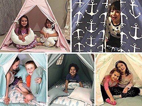Kids-Teepee-Tent-Swiss-Cross-Black-White-Teepee-Set-With-2-Windows-Handcrafted-Teepee-for-Kids-0-2
