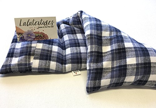 Large-microwavable-heating-pad-The-Flax-Sak-Hotcold-pack-with-removablewashable-cover-Unscentedor-Organic-Lavender-Eucalyptus-Chamomile-or-Peppermint-Relaxing-Gift-Pain-Relief-Spa-gift-0