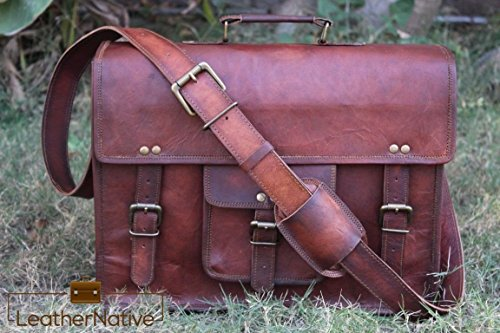 Leather-Native-Handmade-15-Brand-New-Crossbody-Messenger-Courier-Large-Unisex-Genuine-Vintage-Leather-Messenger-Laptop-Briefcase-Satchel-Bag-Gift-Men-Women-Laptop-Spring-Sale-0