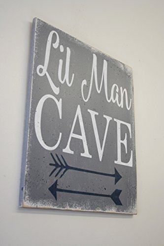 Little-Man-Cave-Wood-Sign-Nursery-Decor-Boys-Nursery-Wall-Art-0