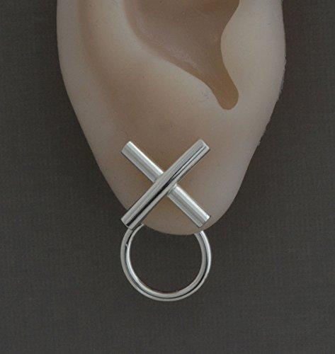 Little-sterling-silver-hugs-kisses-stud-double-sided-front-back-ear-jacket-earrings-love-jewelry-0