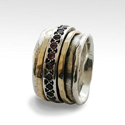 Meditation-Ring-Silver-ruby-ring-with-gold-filled-stacking-spinners-on-wide-wedding-band-Ruby-Tuesday-R1075L-0