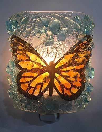 Monarch-Butterfly-Recycled-Bottle-Glass-Night-light-Nightlight-Nitelite-0