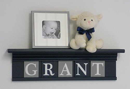 Navy-Shelf-with-Grey-and-Navy-Blue-Wall-Letters-Personalized-Baby-Boy-Nursery-Name-Shelves-with-Gray-and-Navy-Name-Plates-0