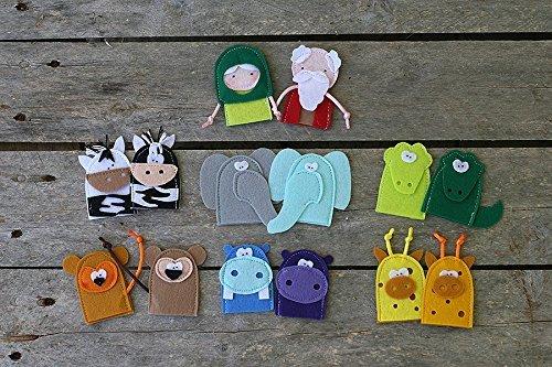 Noahs-ark-Felt-Finger-Puppets-Set-of-14-0