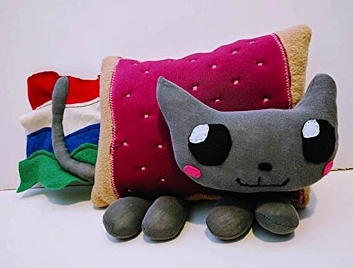 Nyancat-plush-nyan-cat-plushie-toy-for-kids-geek-present-for-children-cat-plush-rainbow-colorful-0