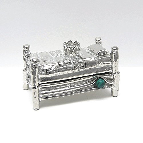 Once-Upon-A-Mattress-Princess-and-Pea-Treasure-Box-Gift-Boxed-Handcrafted-Pewter-Made-in-USA-0