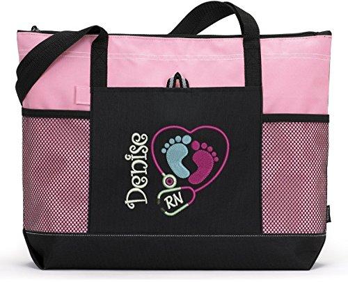 Pediatric-Nurse-NICU-Personalized-Embroidered-Tote-Bag-0