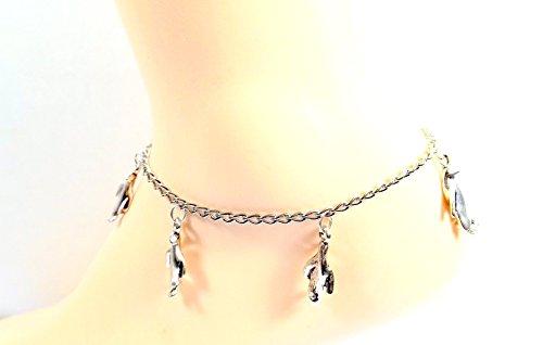 Penguin-Anklet-Platinum-tone-Nautical-Ankle-Bracelet-Ocean-Lovers-Collection-0