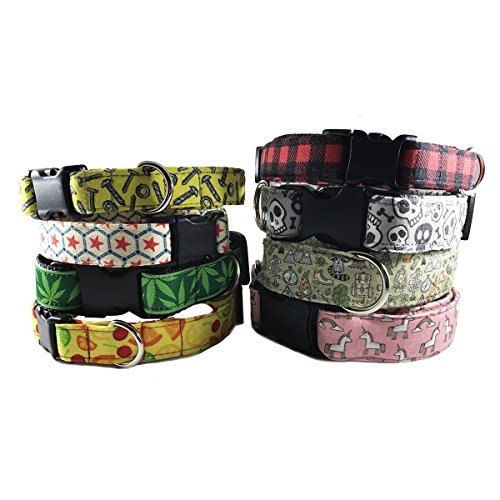 Pepperoni-Pizza-Dog-Collar-for-Pets-Size-Large-1-Wide-and-15-23-Long-by-Oh-My-Pawd-0-1