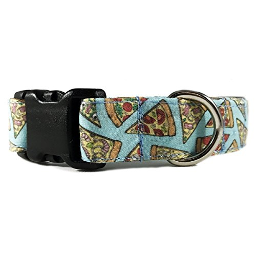 Pepperoni-Pizza-Dog-Collar-for-Pets-Size-Large-1-Wide-and-15-23-Long-by-Oh-My-Pawd-0