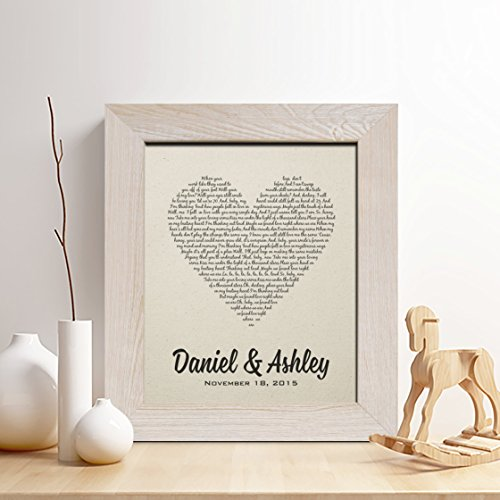 First Wedding Anniversary Gifts For Her: Personalized 2nd Cotton Anniversary Gift For Him Or Her