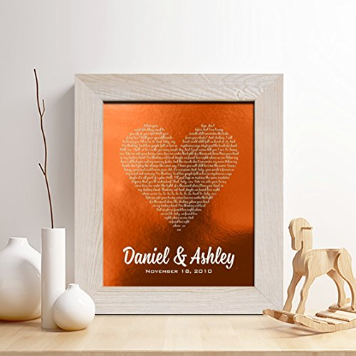 7th Wedding Anniversary Gift Ideas For Her: Personalized 7th Or 22nd Copper Anniversary Gift For Him