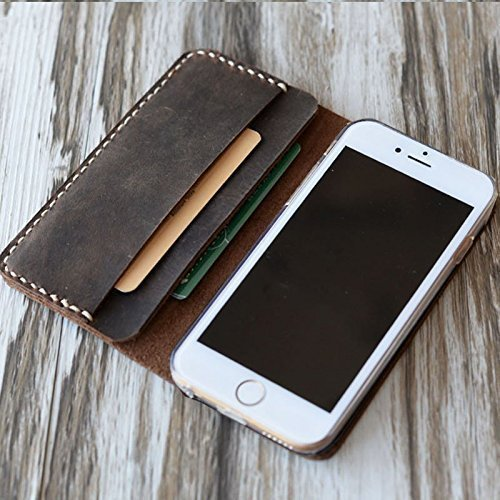 Personalized-Leather-iPhone-X-8-8-Plus-6-case-6s-7-7plus-wallet-Case-6-Plus-Case-Wallet-6s-Plus-Case-IiPhone-SE-5-5s-Case-Handmade-with-Premium-Genuine-Italy-Leather-Rustic-Brown-0
