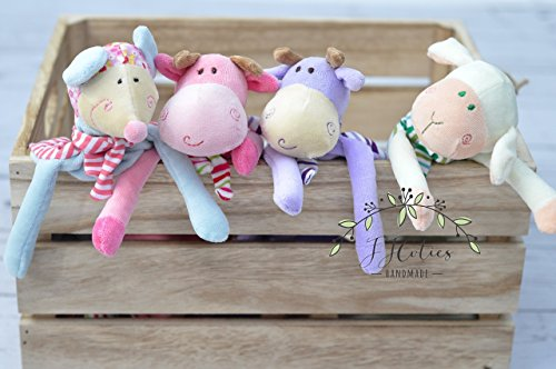 Personalized Lovey Minky Blanket Sheep Stuffed Animal Mouse