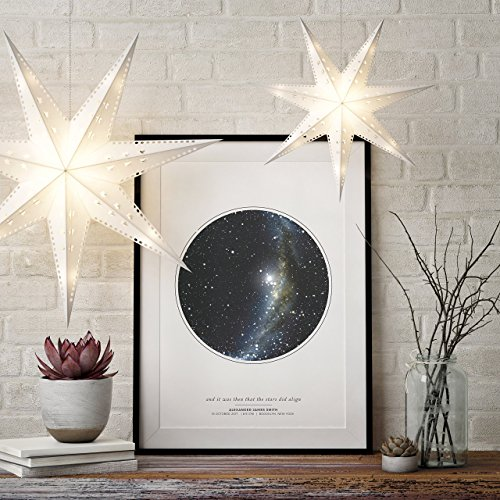Personalized Star Map Print | Night Sky Unframed Print | Custom Star Art |  Star Map Poster | Night Sky Gift | Star Art By Date | Anniversary Gift |