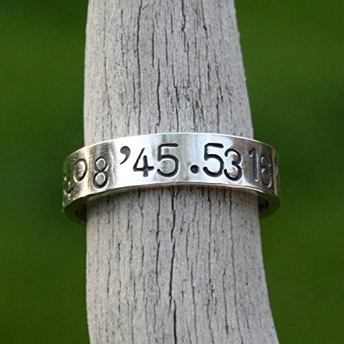 Personalized-Sterling-Silver-Ring-Latitude-Longitude-Coordinates-Memento-Band-0