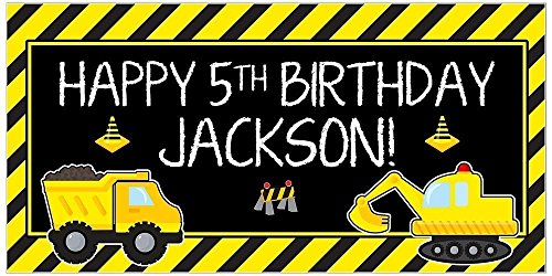 Personalized-Under-Construction-Dump-Truck-Party-Zone-Birthday-Banner-Parrty-Backdrop-0