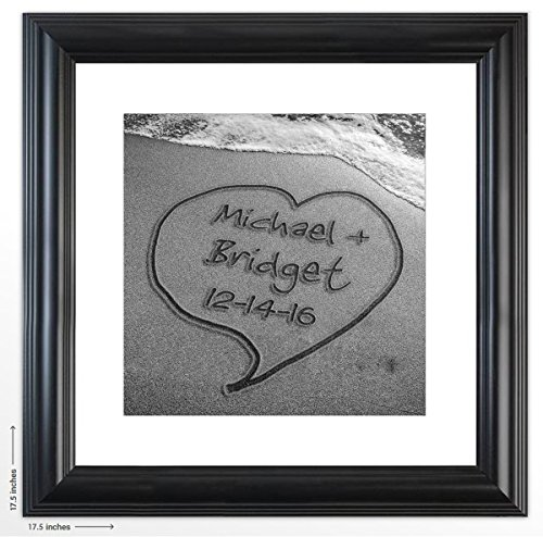 Personalized-Wedding-Gift-Sun-Sand-and-Love-The-Perfect-Present-for-the-Bride-and-Groom-or-Anniversary-Customized-Print-Includes-Names-and-the-Special-Date-Written-in-a-Sand-Heart-0