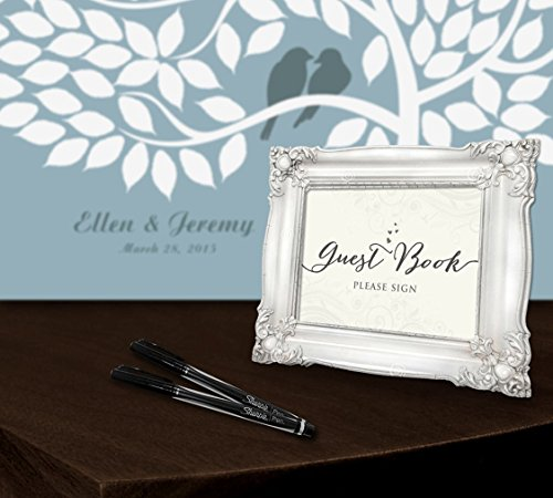 Wedding Guest Signing Tree: Personalized Wedding Guest Book Alternative Poster