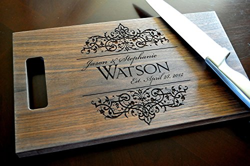 Personalized-Wood-Cutting-Board-with-Filigree-Design-0