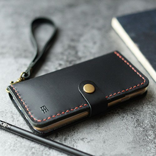 Personalized-iPhone-x-8-8-Plus-7-7-Plus-Case-iPhone-6-6S-6-Plus-6S-Plus-5-5S-SE-Case-Leather-Wallet-Pesonalized-Gifts-for-Womens-Mens-Italian-oil-leather-Black-0