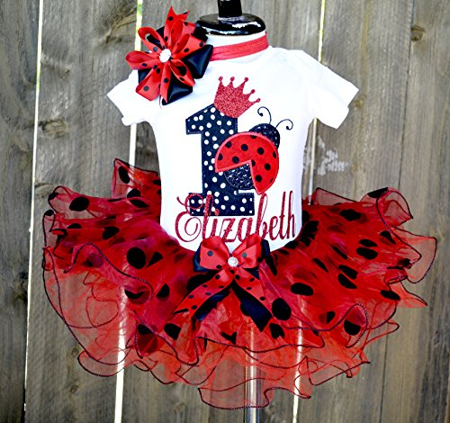 Personalized Ladybug Birthday Outfit1st TutuFirst