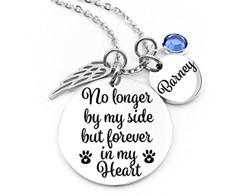 Pet-Memorial-Jewelry-No-Longer-By-My-Side-Memorial-Jewelry-Forever-In-My-Heart-Stainless-Steel-Custom-Made-Personalized-0