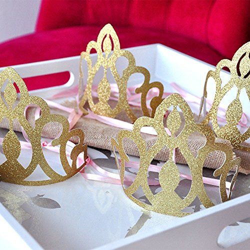 Pink-and-Gold-Birthday-Party-Decoration-Princess-Crowns-as-Party-Favors-Set-of-5-0