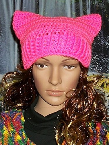 Pussycat-Hat-Pussy-Cat-Hat-Pussy-Hat-Cat-Ear-Hat-Adult-Size-Pink-Ready-to-Ship-0