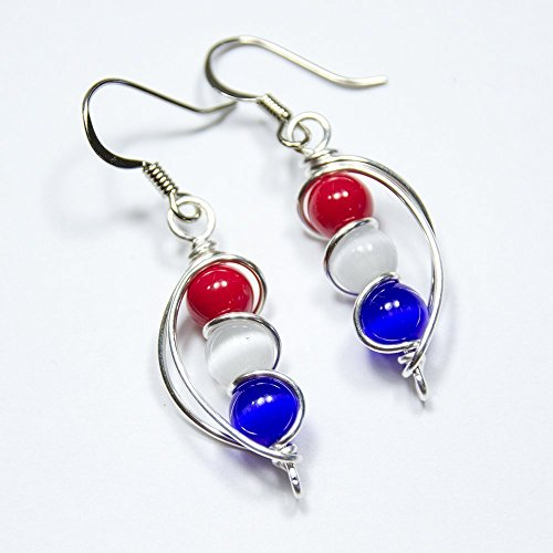 Red-White-and-Blue-American-USA-Flag-Dangle-Earrings-4th-of-July-Independence-Day-Gift-0