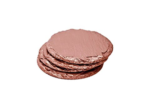 Renee-Redesigns-Round-Hand-Painted-Rose-Gold-Slate-Drink-Coasters-Protects-Table-Surfaces-For-Hot-Cold-Beverages-and-Candles-Round-4-x-4-inches-Set-of-4-0