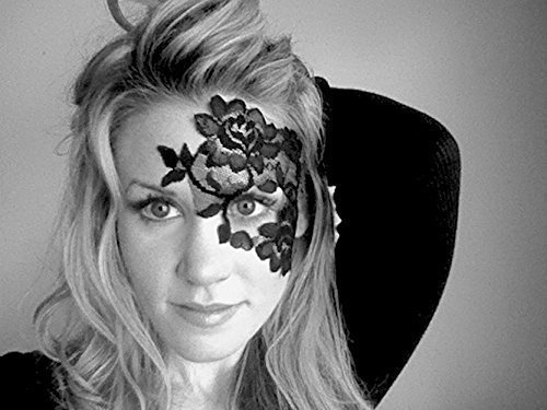 Reusable-Adhesive-Black-Lace-Masquerade-Mask-by-LacedAndWaisted-includes-liquid-adhesive-no-stick-or-strap-needed-strapless-0