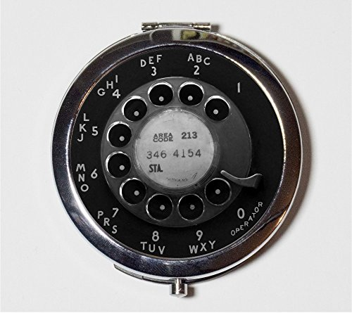 Rotary-Phone-Dial-Compact-Mirror-Vintage-Technology-Telephone-Pop-Art-Makeup-Pocket-Mirror-for-Cosmetics-0