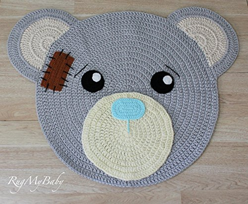 Round Rugs Baby Rug Nursery Rugs Cute Bear Design Home
