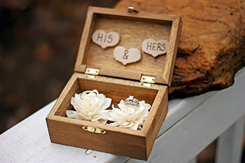 e975ec076c Rustic Wedding Sola Flower Ring Box – Rustic Wedding Decor – Ring ...