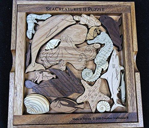 Sea-Creatures-II-Puzzle-wood-brain-teaser--a-beautiful-challenge-0