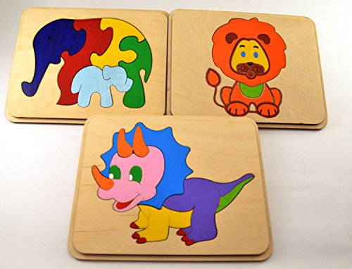 Set-of-3-wooden-puzzle-Baby-Toddler-Toys-Montessori-toy-Wooden-toys-Travel-toys-Busy-toys-Animal-puzzle-Elephants-family-Waldorf-toys-Gift-0
