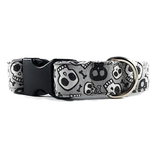 Skull-and-Bones-Dog-or-Cat-Collar-for-Pets-Size-Small-34-Wide-and-10-14-Long-by-Oh-My-Pawd-0