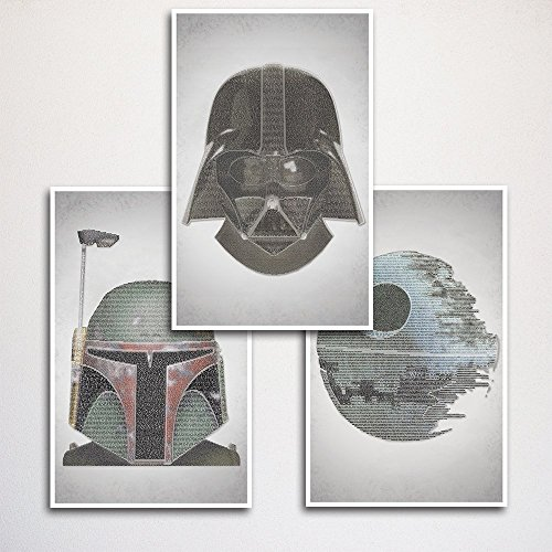 Star-Wars-Word-Art-Print-Three-Set-11x17-Every-Line-of-Dialogue-0