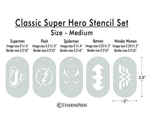 Stencils-Classic-Super-Hero-Set-of-5-0