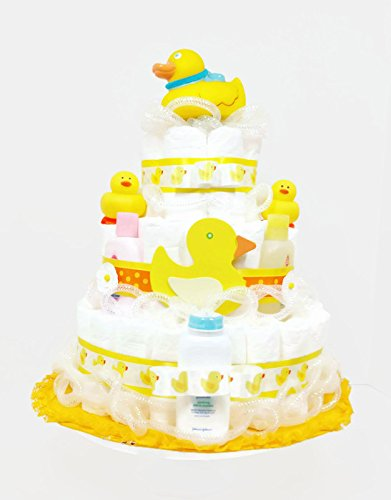 Suds-Bubbles-Bath-Time-Ducky-Gender-Neutral-Baby-Diaper-Cake-0