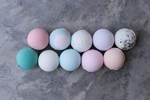 TEN-Bath-Bomb-Sampler-bath-fizzy-handmade-relax-favors-moisturize-bath-time-bath-color-Charleston-bath-0